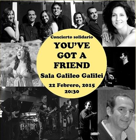 39 you ve got a friend 39 concierto solidario en la sala for Sala galileo conciertos