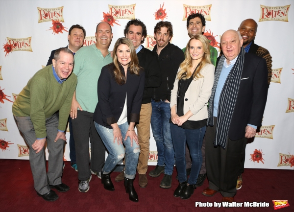 Peter Bartlett, Brooks Ashmanskas, Brad Oscar, Heidi Blickenstaff, Brian D'Arcy James, , Christian Borle, Kete Reinders, John Cariani, Gerry Vichi and Michael James Scott