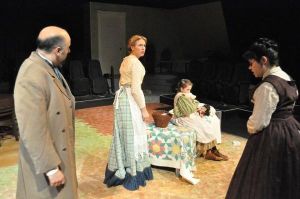 JAMES A. GILLETTI (Mr. Keller), GRETCHEN BOYT (Mrs. Keller), LIBERTY EVANS-AGNEW (Helen Keller) and DEYA OZBURN (Anne Sullivan)