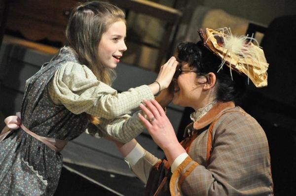 LIBERTY EVANS-AGNEW (Helen Keller) and DEYA OZBURN (Anne Sullivan)