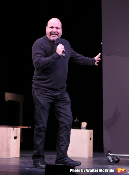 Casey Nicholaw during a rehearsal presentation of 'Something Rotten! A Very New Musical'  at the Little Shubert Theatre on February 17, 2015 in New York City.