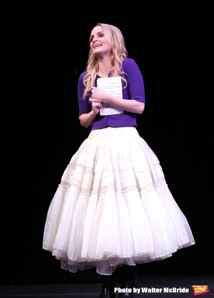 Kate Reinders during a rehearsal presentation of 'Something Rotten! A Very New Musical'  at the Little Shubert Theatre on February 17, 2015 in New York City.