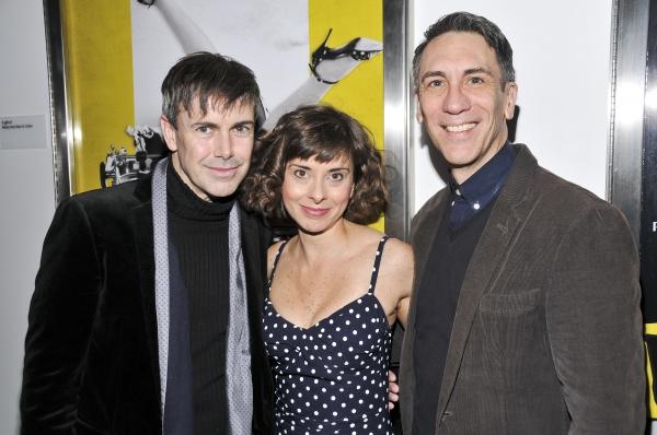Matt McGrath and Robert Sella share the evening with fellow cast member Jeanine Serralles