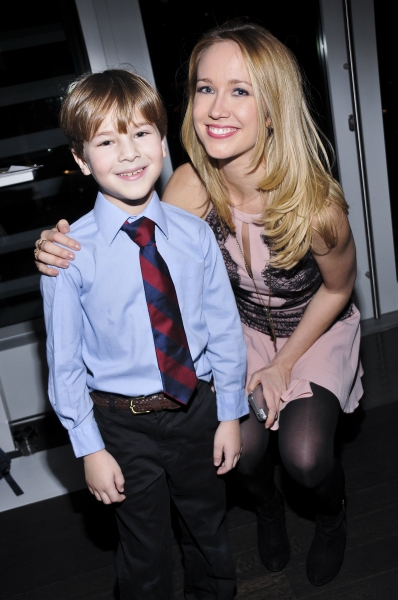 Anna Camp (True Blood) here with her on-stage son Oliver Hollmann.
