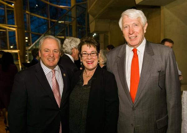 Congressman Mike Doyle, Arena Stage Artistic Director Molly Smith and Regional President of PNC Bank Michael N. Harreld