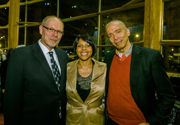 Arena Stage Executive Producer Edgar Dobie, August Wilson's daughter Sakina Ansari and director Timothy Douglas