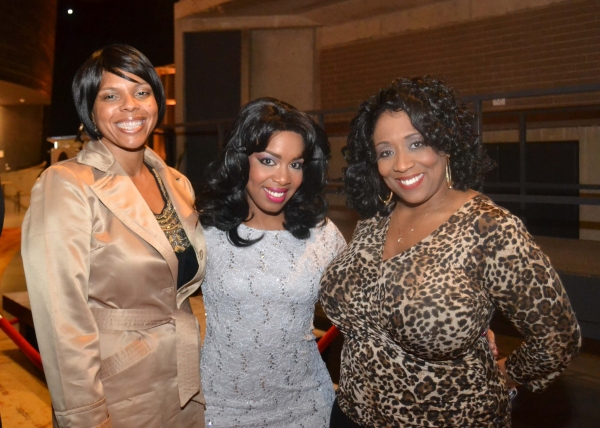 August Wilson's daughter Sakina Ansair with cast members Jessica Frances Dukes and E. Faye Butler