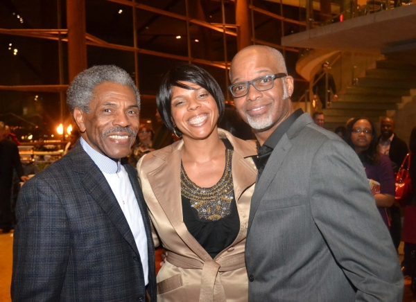 Andre De Shields (left) and Michael Anthony Williams with August Wilson's daughter Sakina Ansari