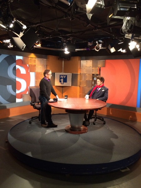"I am interviewed by Patrick Pacheco at NY1 ""On Stage�"
