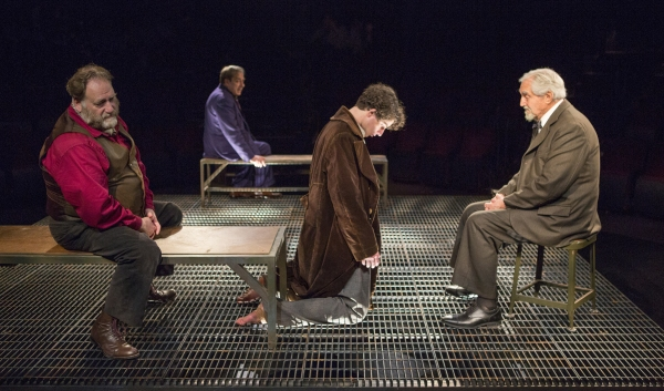 Ron Orbach as Moishe Bretzky, Robert Dorfman as Vasily Korinsky, Eli Gelb as Pinchas  Photo
