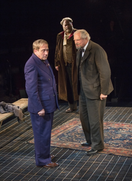 Robert Dorfman as Vasily Korinsky, and Ron Orbach as Moishe Bretzky, and Hal Linden as Yevgeny Zunser
