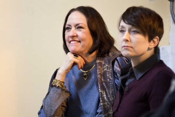 Joan McGrath and Kelli Walker in rehearsal for Pride Films and Plays' production of ANGRY FAGS