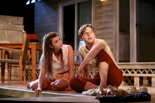 Natalie Oliver (Sally) and Carl Fisk (John)