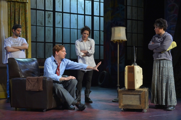 NICK GABRIEL, JIM LICHTSCHEIDL, CHARITY JONES, and ANNA ISHIDA prepare for a performa Photo