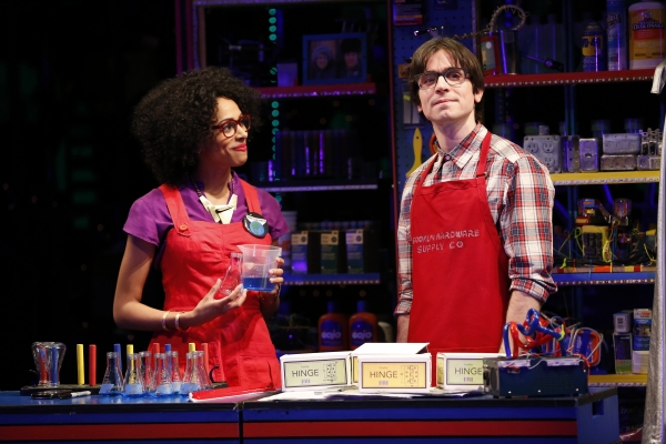 Nicolette Robinson and Matt Doyle