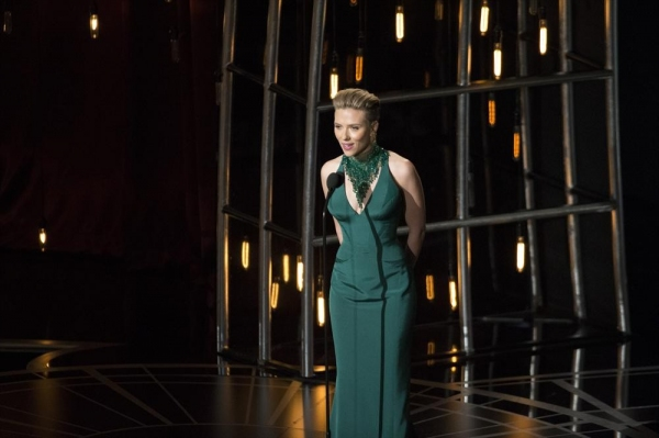 THE OSCARS(r) - THEATRE - The 87th Oscars, held on Sunday, February 22, 2015, at the Dolby Theatre(r) at Hollywood & Highland Center(r), are televised live on the ABC Television Network at 7 p.m., ET/4 p.m., PT.  (ABC/Craig Sjodin)SCARLETT JOHANSSON