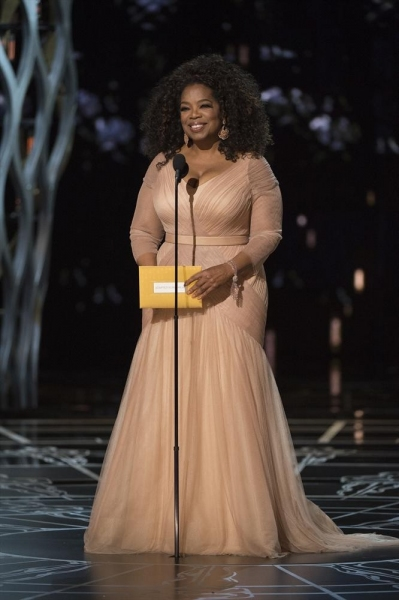 THE OSCARS(r) - THEATRE - The 87th Oscars, held on Sunday, February 22, 2015, at the Dolby Theatre(r) at Hollywood & Highland Center(r), are televised live on the ABC Television Network at 7 p.m., ET/4 p.m., PT. (A.M.P.A.S.(r)/Michael Yada)OPRAH WINFREY