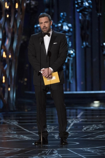 THE OSCARS(r) - THEATRE - The 87th Oscars, held on Sunday, February 22, 2015, at the Dolby Theatre(r) at Hollywood & Highland Center(r), are televised live on the ABC Television Network at 7 p.m., ET/4 p.m., PT. (A.M.P.A.S.(r)/Michael Yada)BEN AFFLECK