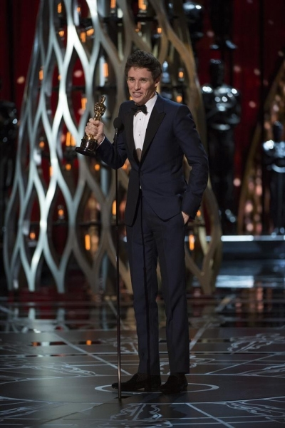 THE OSCARS(r) - THEATRE - The 87th Oscars, held on Sunday, February 22, 2015, at the Dolby Theatre(r) at Hollywood & Highland Center(r), are televised live on the ABC Television Network at 7 p.m., ET/4 p.m., PT. (A.M.P.A.S.(r)/Michael Yada)EDDIE REDMAYNE