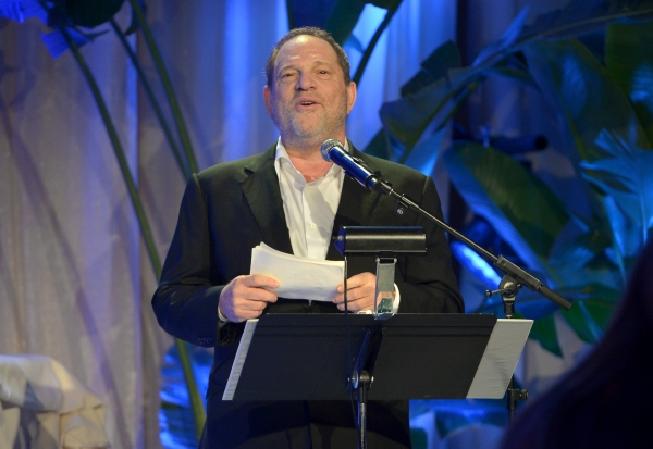 LOS ANGELES, CA - FEBRUARY 21:  Co-Chairman of The Weinstein Company Harvey Weinstein speaks onstage during The Weinstein Company's Academy Awards Nominees Dinner in partnership with Chopard, DeLeon Tequila, FIJI Water and MAC Cosmetics on February 21, 2