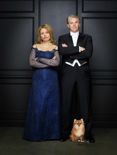 Renee Fleming as Raquel De Angelis and Douglas Sills as Vito De Angelis with Trixie