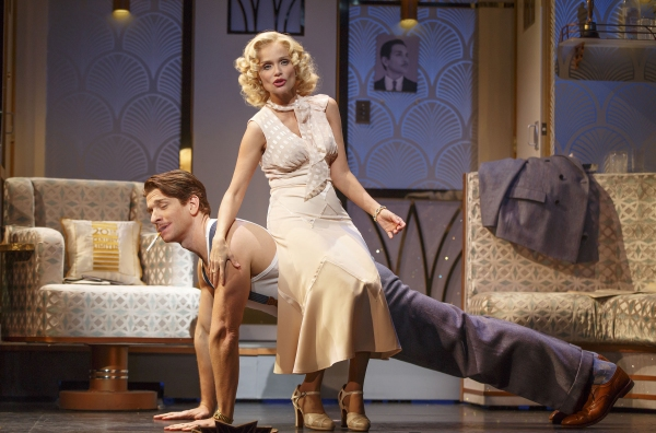 Andy Karl (Bruce Granit) and Kristin Chenoweth (Lily Garland)