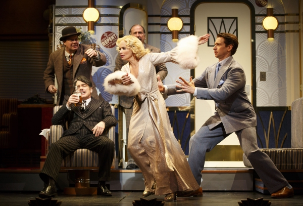 Peter Gallagher (Oscar Jaffee), Michael McGrath (Owen O'Malley), Kristin Chenoweth (Lily Garland), Mark Linn-Baker (Oliver Webb) and Andy Karl (Bruce Granit)