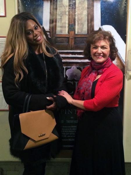 Photo Flash: Laverne Cox, Joy Behar Visit SNOW ORCHID Off-Broadway!
