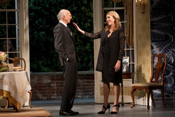 Larry David and Rita Wilson