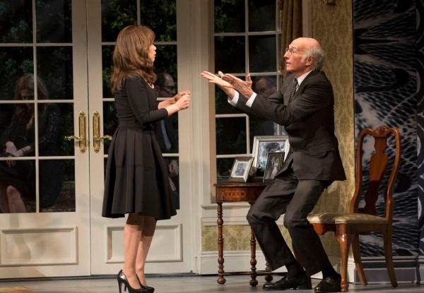 Rosie Perez and Larry David
