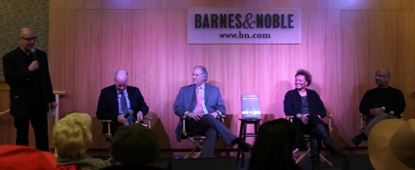 Barnes & Noble's Steven Sorrentino introduces Tom Santopietro, Stewart F. Lane Photo
