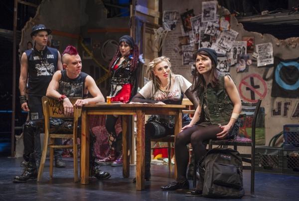 Matt Magnusson as Nosmo, Kevin Hegmann as PD, Lauren Patten as Trashley, Kristin Piac Photo