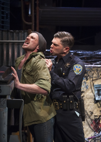 Zach Martens as Niko and Alex Emanuel as Officer Walker Photo