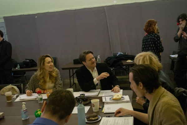 First rehearsal of THE 39 STEPS off-Broadway