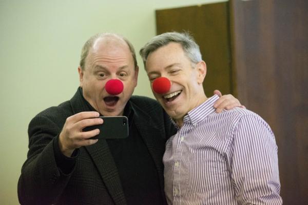 Producer Douglas Denoff and Arnie Burton taking nosies