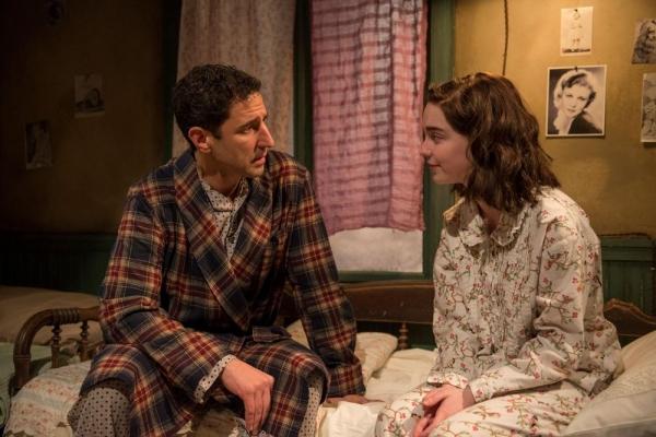 Sean Fortunato (Otto Frank) and Sophie Thatcher (Anne Frank)