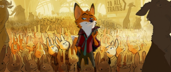 A fast-talking fox is framed for a crime he didn�t commit in Walt Disney Animation Studios� �Zootopia� (working title)�in theaters in 2016. ©2013 Disney. All Rights Reserved.