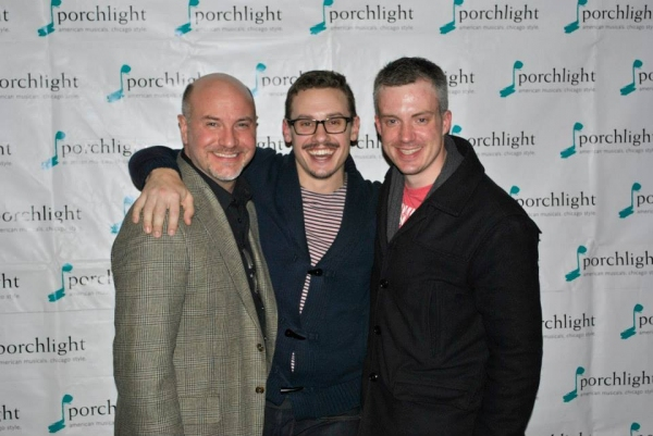Porchlight Music Theatre's Artistic Director Michael Weber, City of Angels Director Christopher Pazdernik and City of Angels Music Director Aaron Benham.