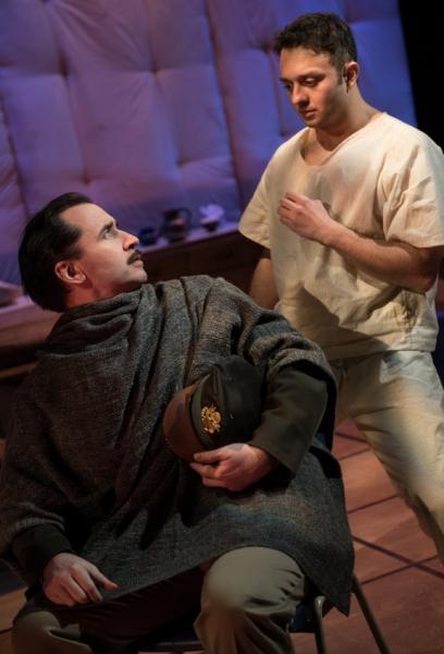 Jason Wilson as Captain, James Kautz as Woyzeck Photo