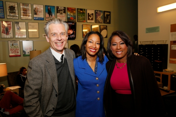 CTG Artistic Director Michael Ritchie, Leslie K. Johnson, Director of Education and Community Partnerships and Master of Ceremonies Pat Harvey