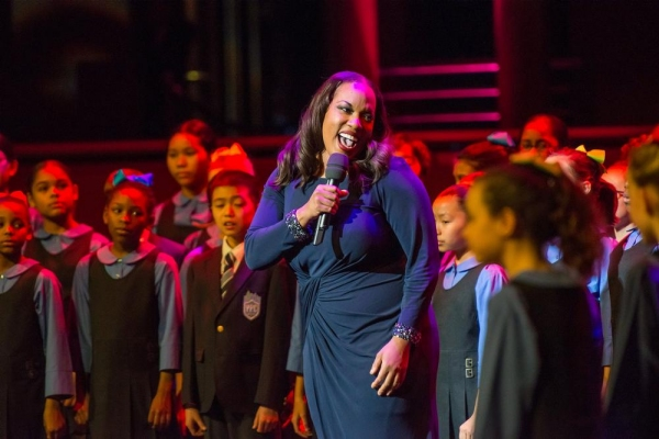Allison Blackwell sings 'Life is a  Bowl of Cherries' with YPC's younger choristers