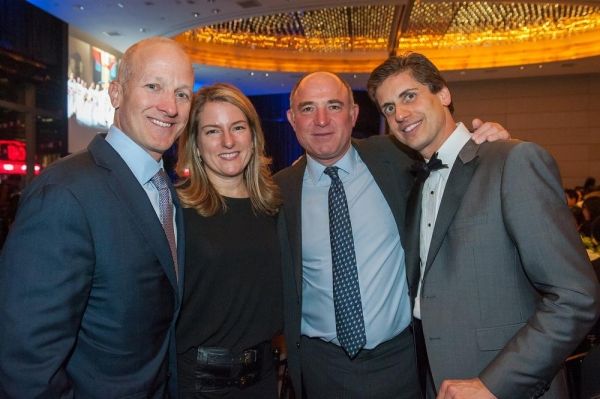 Corporate honoree Thomas Wagner, his wife Cindy, YPC Board Chairman Adam Chinn, and Y Photo