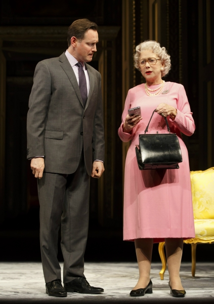 Rufus Wright (David Cameron) and Helen Mirren (Queen Elizabeth II)