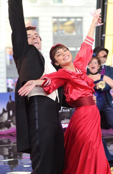 GOOD MORNING AMERICA - Vanessa Hudgens and the cast of Broadway''s ''Gigi'' perform live on ''Good Morning America,'' 3/11/15, airing on the ABC Television Network.(ABC/Fred Lee)VANESSA HUDGENS, GIGI CAST