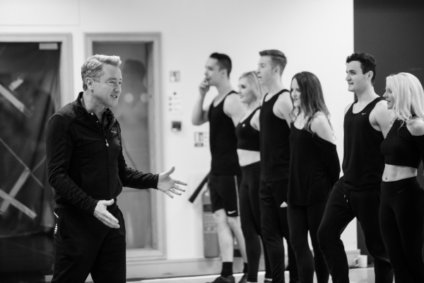 Michael Flatley rehearsing the cast Photo