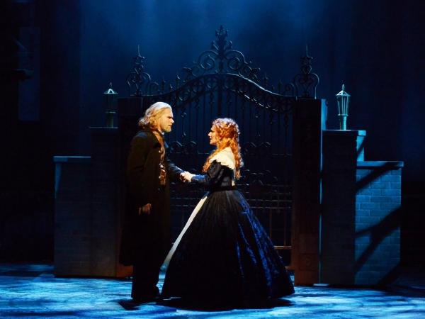 Valjean (Gregg Goodbrod) and Cosette (Siri Howard)