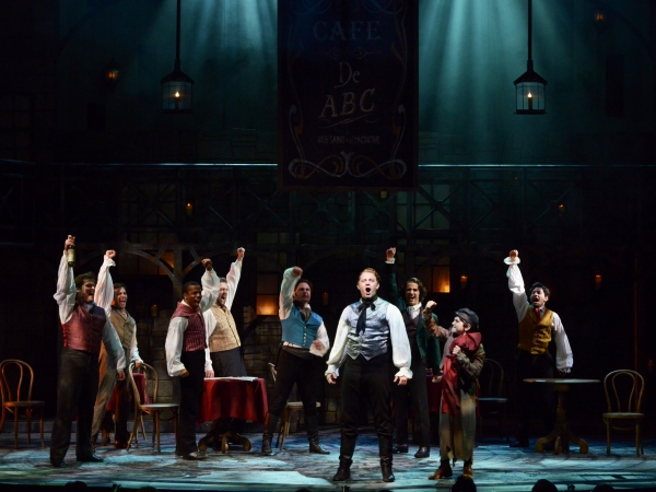 Enjolras (Matt Farcher) leads plans for an uprising