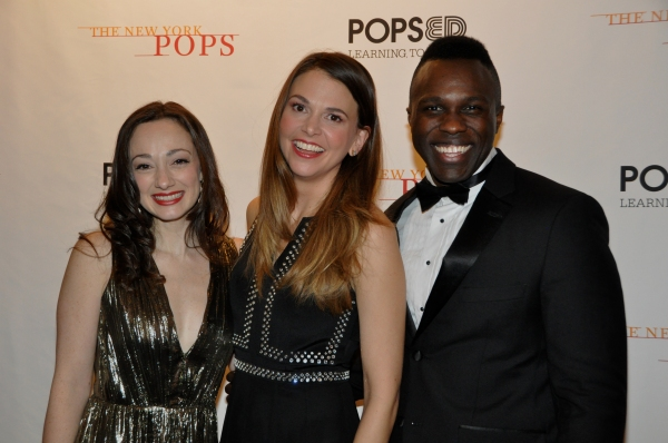 Megan McGinnis, Sutton Foster and Joshua Henry