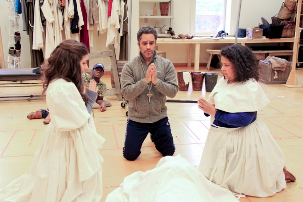 Maria Failla (Antonia), Sidney DuPont (Paco), Martín Solá (Padre), and Rayanne Gonzales (Housekeeper)
