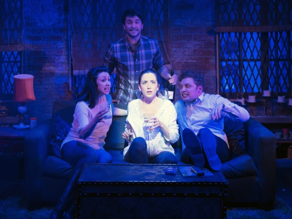 Natascia Diaz (Adrienne), Alex Brightman (Jonah), Jessica Hershberg (Charlie) and Jos Photo